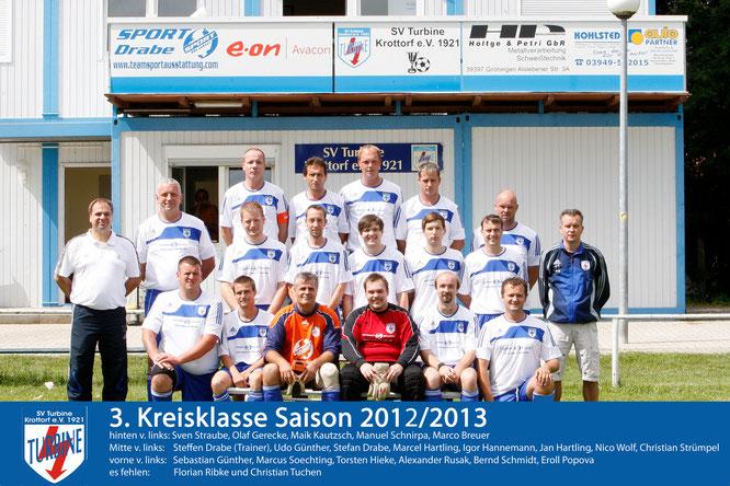 Mannschaftsfoto Saison 2012/2013
