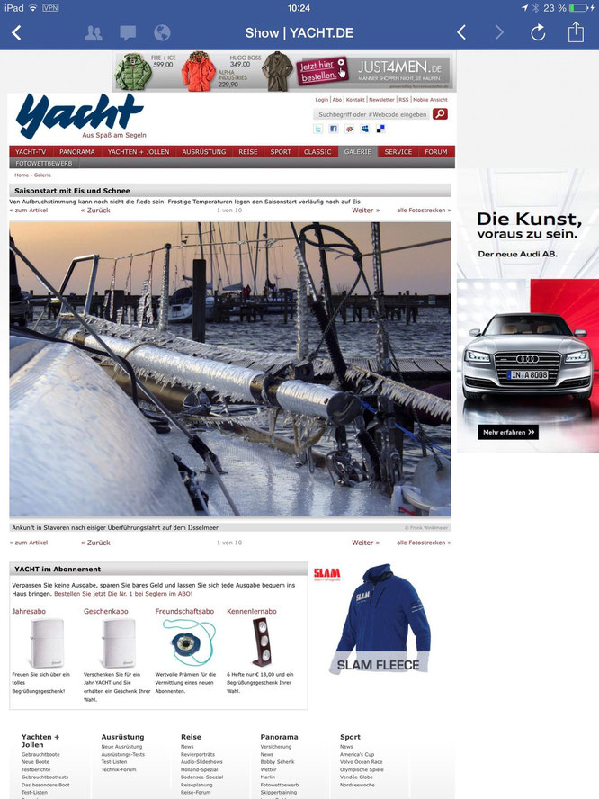 YACHT Magazin / Frostiges Frühjahr 2013 / Titelbild
