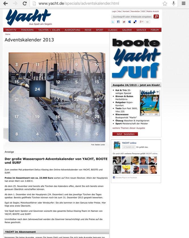 YACHT Magazin / Adventskalender 12/2013 + 12/2014