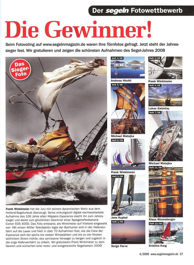 SEGELN Magazin / Fotowettbewerb 2009 Endrunde / 3x 1ste Plätze + Gesamtsieger