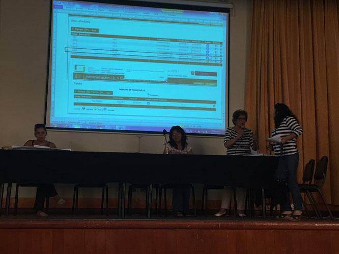 Directoras representando un caso de matrícula 2016