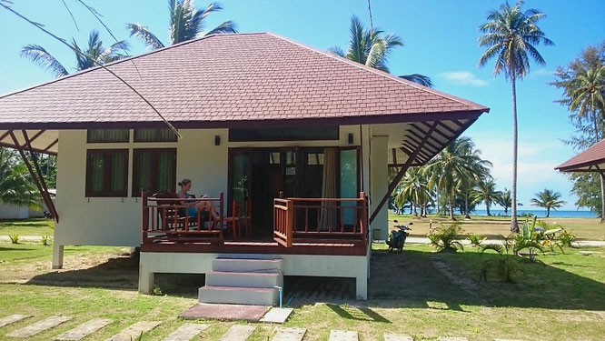 Unser Bungalow am Klong Prao Beach