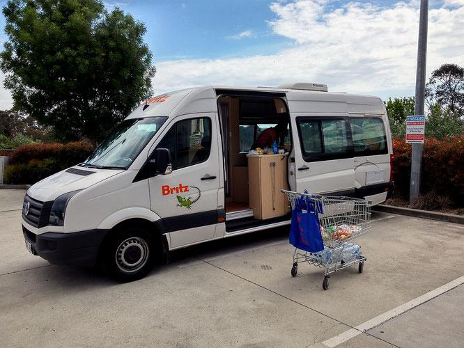 Unser Camper ist ein VW Crafter mit 6,5 Meter Länge und zwei Klimaanlagen