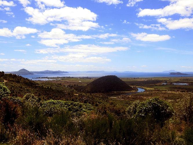 Der südliche Teil des Lake Taupo