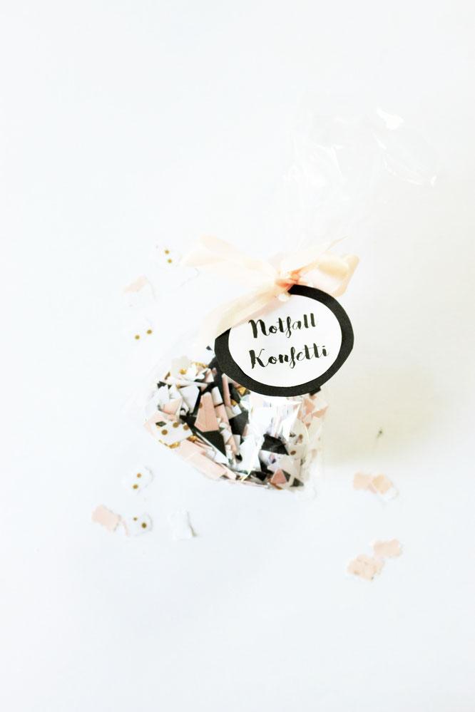 Bild: DIY Konfetti, Konfetti aus Washitape und Maskingtape ganz schnell selber machen, last-minnute Geschenk Idee, gefunden auf www.partystories.de