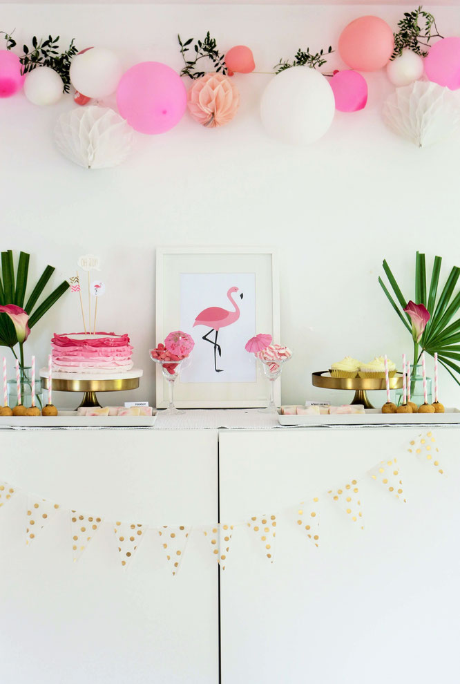 Flamingo Party DIY Deko Ideen - Partystories Blog