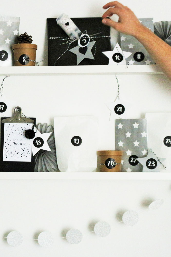 stylische diy adventskalender von pinterest partystories. Black Bedroom Furniture Sets. Home Design Ideas