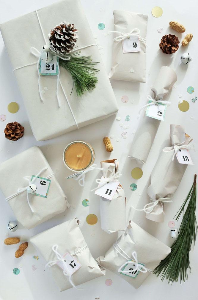 Bild: DIY Adventskalender samt Holzkiste selber machen - mit Freebie Bastelvorlage für Girlande und Adventskalenderzahlen von Partystories.de // #Advent #Adventskalender #DIYadventskalender #Adventskiste