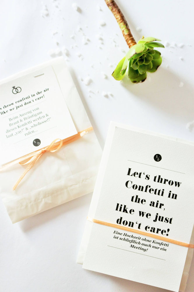 Bild: DIY Konfetti Verpackung für die Hochzeit, Party oder als Geschenk Idee - so einfach, schnell und günstig kannst Du Konfetti Verpackungen selber basteln; gefunden auf www.partystories.de