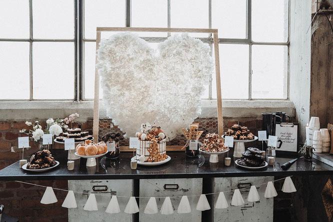 Bild: DIY Deko Backdrop für die Party oder Hochzeit – mit dieser Anleitung ganz einfach eine Upcycling Dekoration aus alten Kaffeefiltern selber basteln // gefunden auf dem Partystyling Blog Partystories.de // Foto: Sebastian Sachs, Gefühlsrausch