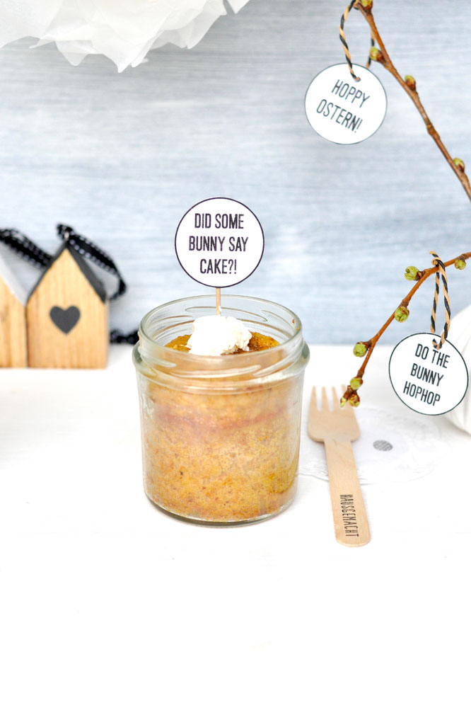 Bild: einfaches Rezept für Rüblikuchen im Glas, ein Gastbeitrag von Fräulein Selbstgemacht auf Partystories.de