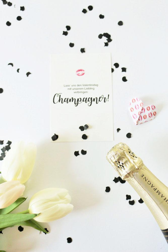 Bild: Karten und Poster zum ausdrucken mit Wünschen zum Valentinstag, gefunden auf Partystories.de