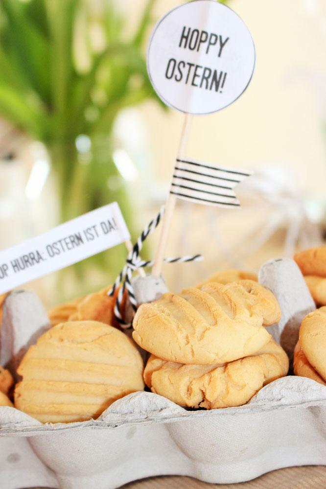 Bild: Ideen für DIY Osterdeko, Freebie zum nachmachen inklusive, gefunden auf Partystories.de