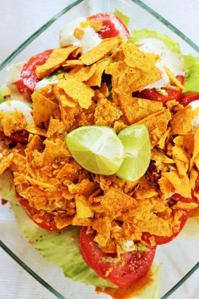 nacho salat ohne fleisch
