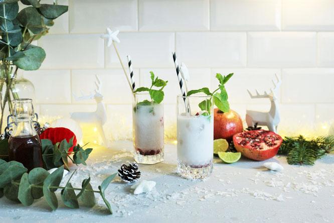 Bild: Rezept für Winter Mojitos mit Kokosnuss Rum