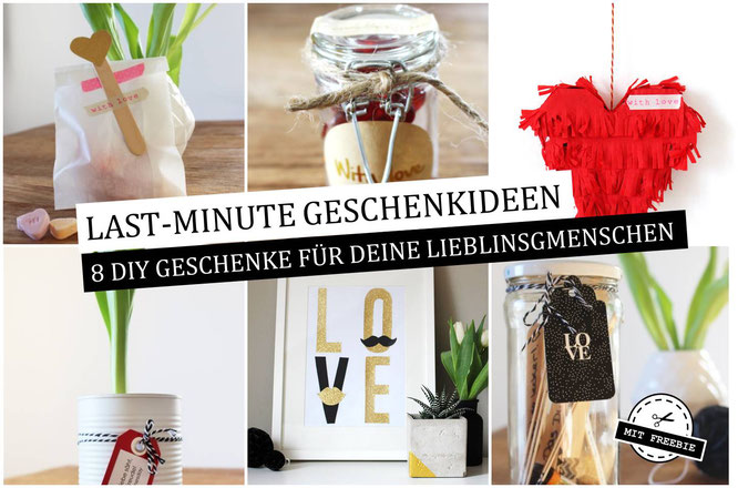 Bild: last-minute DIY Geschenkideen, Geschenke zum Valentinstag, gefunden auf Partystories.de