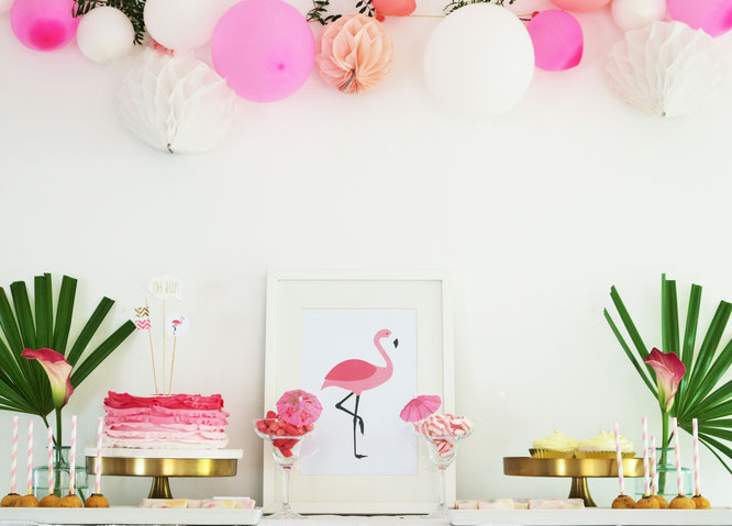tischdeko ideen fuer den sommer, flamingo party diy deko ideen - partystories blog, Design ideen