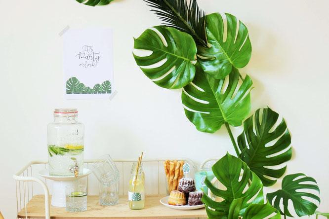 Dekoration im greenery und urban jungle stil partystories blog - Dekoration dschungel ...