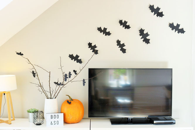 diy halloween fledermaus deko partystories blog. Black Bedroom Furniture Sets. Home Design Ideas