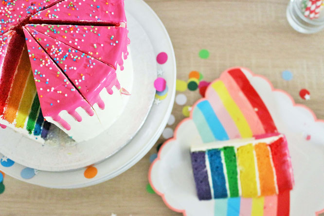 Bild: Regenbogen Party - So einfach feierst Du eine Regenbogen Mottoparty als Kindergeburtstag oder Babyparty, mit Ideen für Regenbogen Deko, Torte, DIY's und vielen Tipps; gefunden auf www.partystories.de