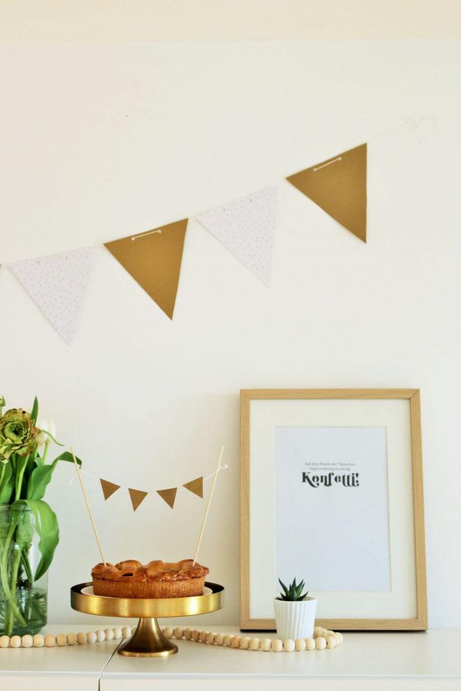 diy girlande als wimpelkette basteln partystories blog. Black Bedroom Furniture Sets. Home Design Ideas
