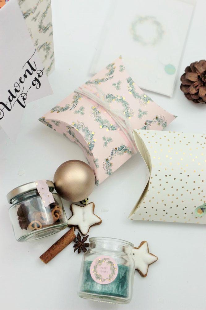 diy geschenk idee f r advent und weihnachten to go in der t te partystories blog. Black Bedroom Furniture Sets. Home Design Ideas