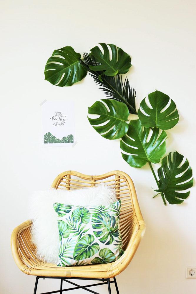 dekoration im greenery und urban jungle stil. Black Bedroom Furniture Sets. Home Design Ideas