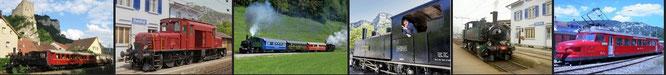 historischen Zug im Jura