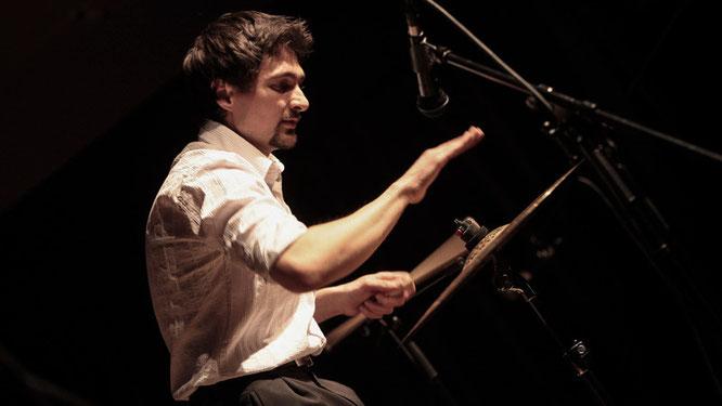 Cymbal Solo auf einem Konzert
