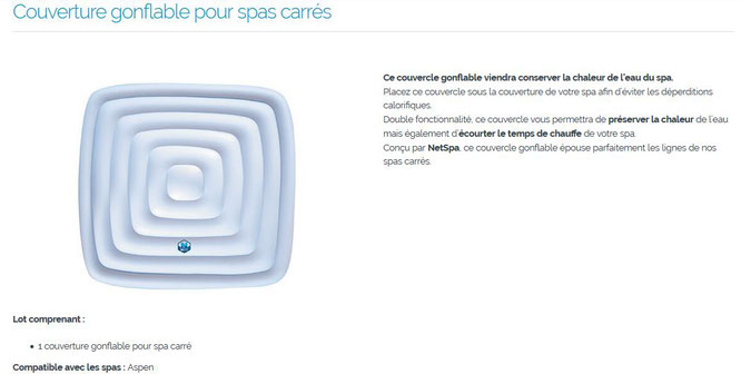 Couverture Gonflable Pour Spas Carres Medicycle