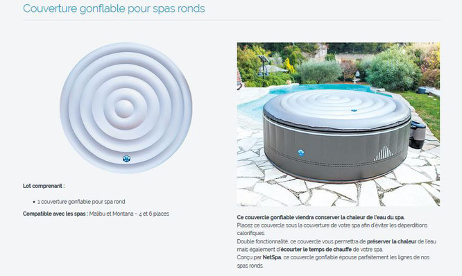 Couverture Gonflable Pour Spas Ronds Medicycle