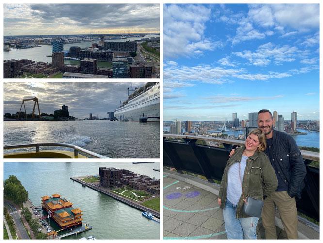 2020: Die Aussicht vom Euromast über Rotterdam ist der Hammer!