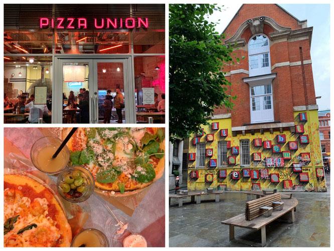 1. Abend und super leckere Pizza im Pizza Union (Link gesetzt)