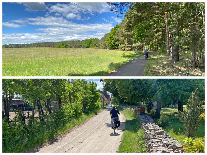 Wunderschöne Strecken im Naturpark, die Route haben wir hinterlegt