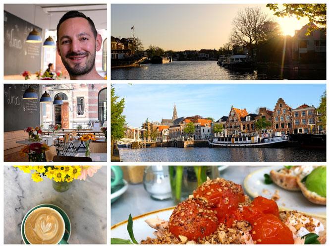 Haarlem am Morgen und Frühstück im Café by Lima