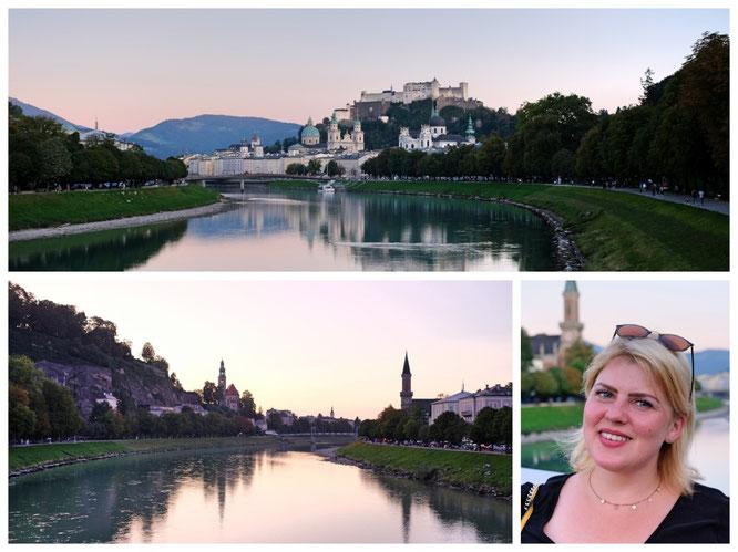 Die wahre Schönheit Salzburgs kommt erst am Abend zum Vorschein...