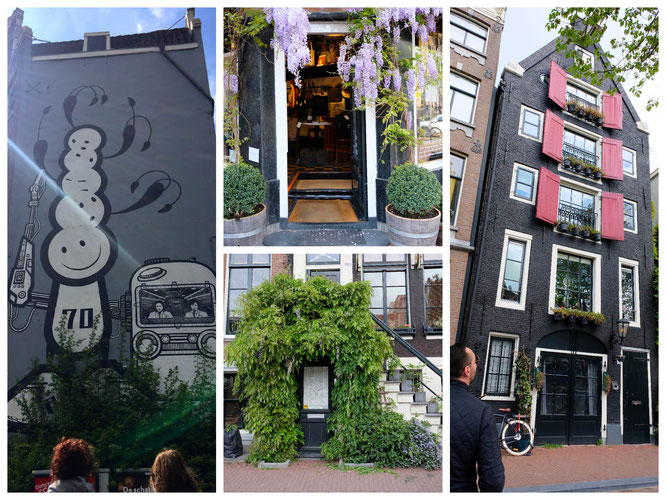 Streetart, traumhafte Häuser und Geselligkeit. Das ist Amsterdam