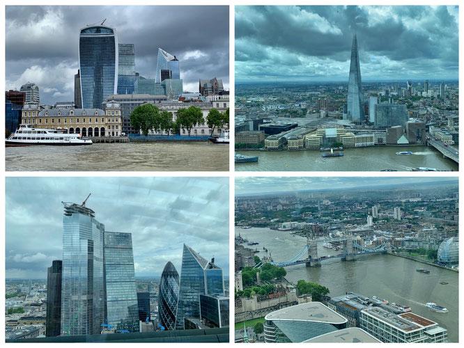 Ausblick aus dem Sky Garden auf London (Link gesetzt)
