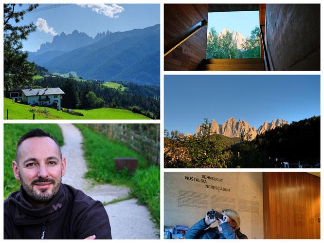 Eindrücke vom Berg und dem Naturparkhaus Villnöß