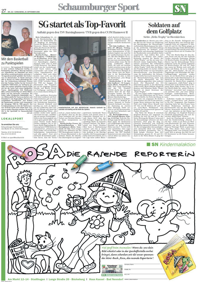 Malaktion der Schaumburger Nachrichten zum Weltkindertag 2008