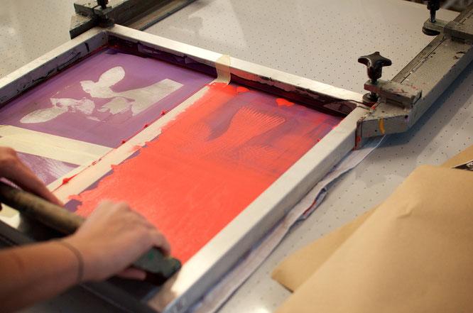 Siebdruck Workshop. Siebdruck selber machen.
