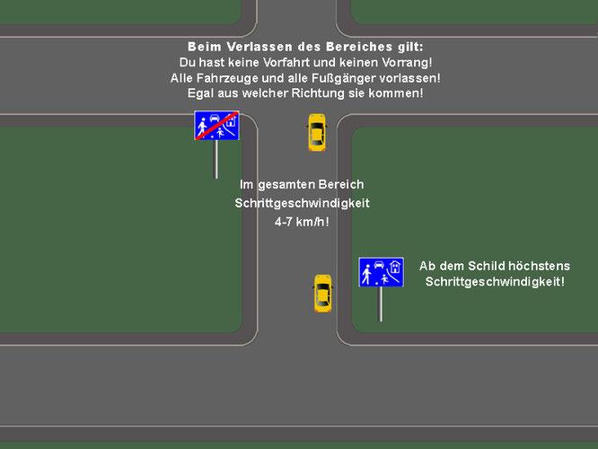 Verkehrsberuhigter Bereich Für Den Führerschein Theorie Lernen