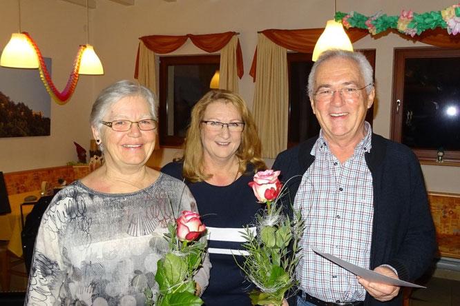Doris Griesinger, Karin Steinhauser und Werner Anderson