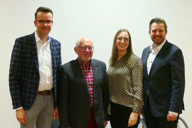 v.l.n.r: Christian Grascha, Hans-Werner Pabst, Katharina Wieking, Oliver Darcy