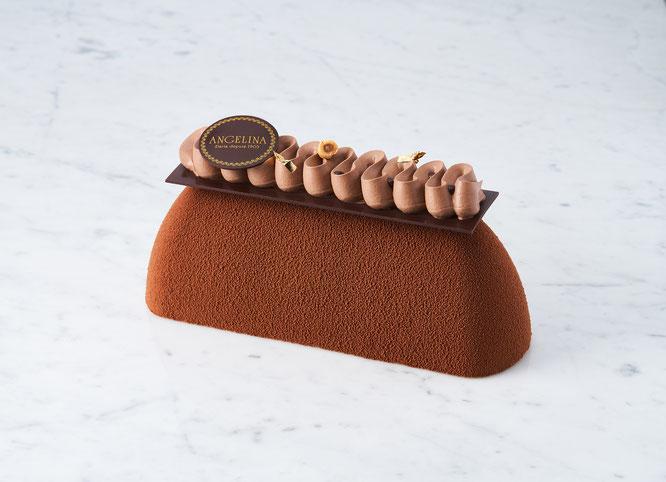 Bûche tout chocolat - Noël 2021 chez Angelina Paris