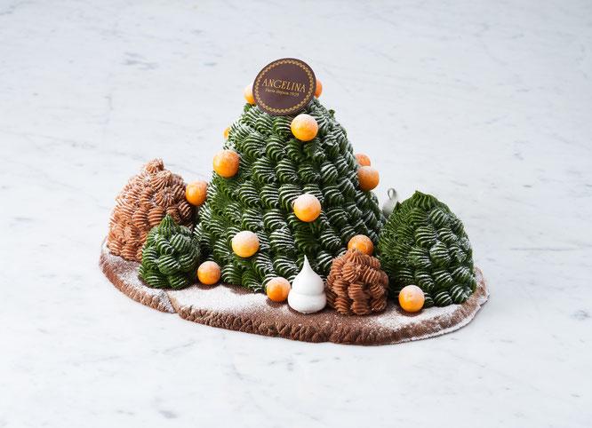 La « Forêt Mont-Blanc » - Noël 2021 chez Angelina Paris