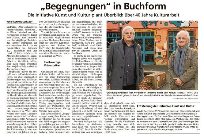 Begegnungen in Buchform - HNA 21.11.2020