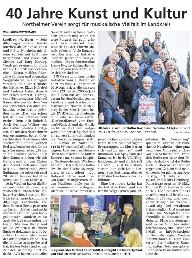 Hallo Northeim, Wochenendausgabe 08.02.2020