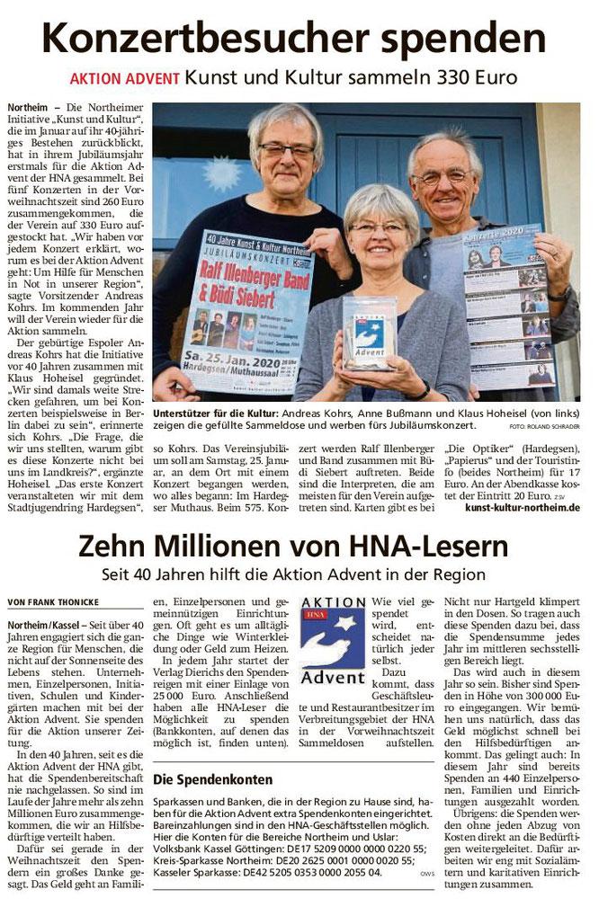 Northeimer Neueste Nachrichten, 28.12.2019