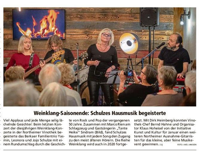 Northeimer Neueste Nachrichten, 18.11.2019